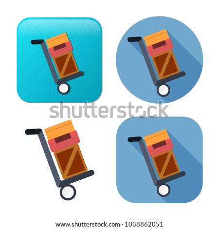 shipping inventory icon - vector cardboard - shipping package - vector carton box