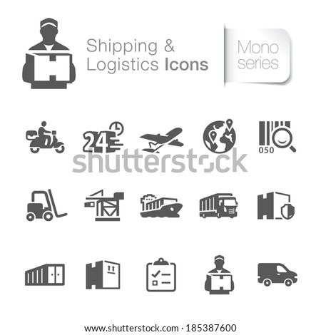 Shipping & logistics related icons.