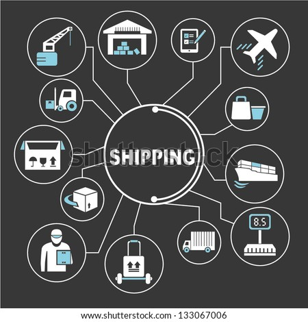 shipping mind mapping info graphics