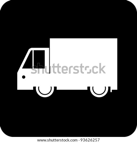Shipping truck - Vector icon isolated on white