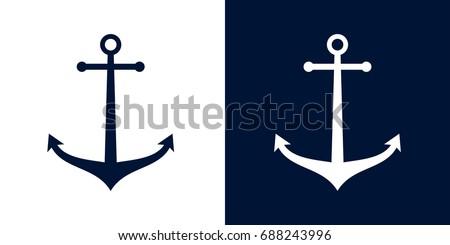 Ships anchor vector icon