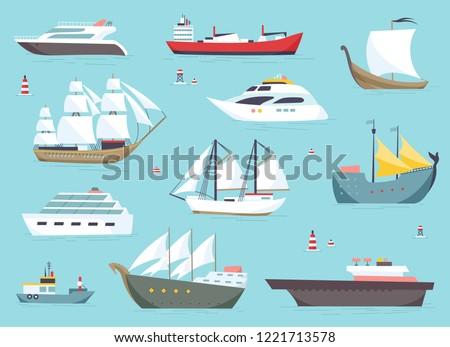 ships at sea  shipping boats