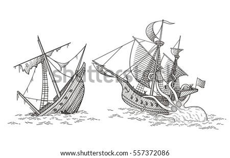 ships crush vector