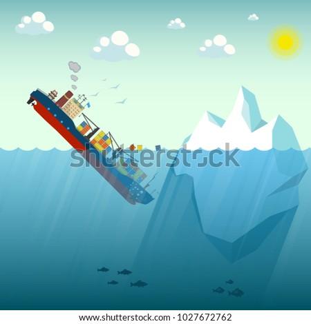 shipwreck iceberg container
