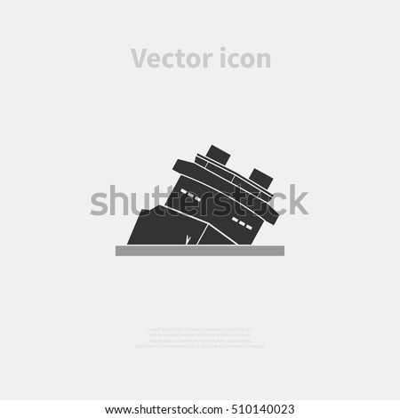 shipwreck icon isolated on