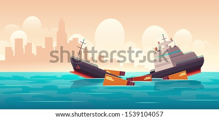 shipwreck of cargo ship  vessel