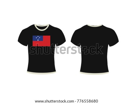 shirt  and flag of Samoa