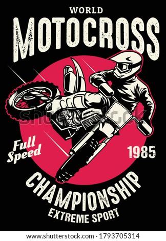 shirt design of motocross championship Stock photo ©