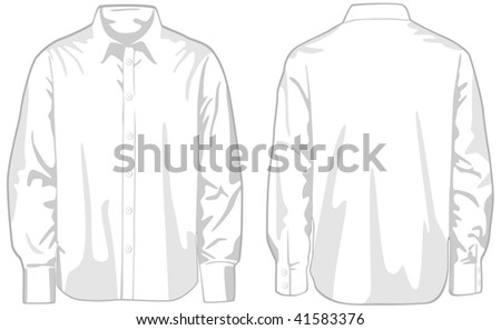 Shirt, front and back. Vector