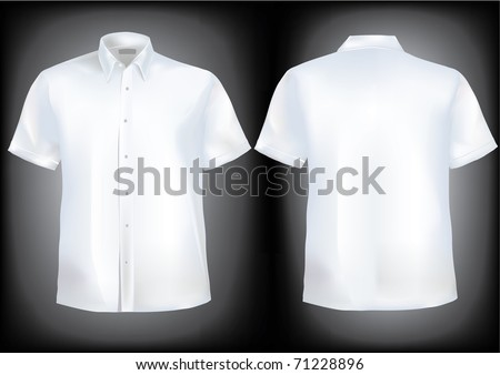 Shirt front and back with collar and half sleeves in mesh.Shirts in separate layers and very detailed with buttons and easily editable