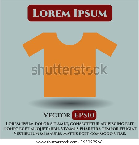 Shirt icon vector illustration