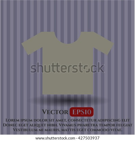 shirt icon vector symbol flat eps jpg app web concept website