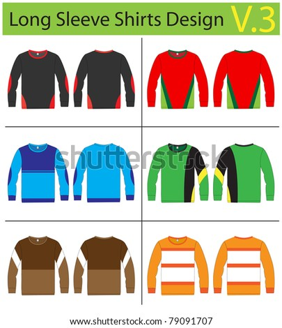 Shirt long sleeves. vector template design