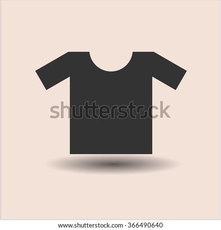 Shirt vector icon or symbol