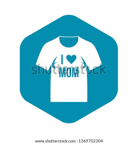 Shirt with print icon. Simple illustration of shirt with print vector icon for web
