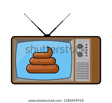 shit on tv turd from
