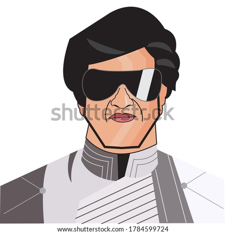 Shivaji Rao Gaekwad, known professionally as Rajinikanth, is an Indian actor who works primarily in Tamil cinema.Caricature vector design on white background.July,2020