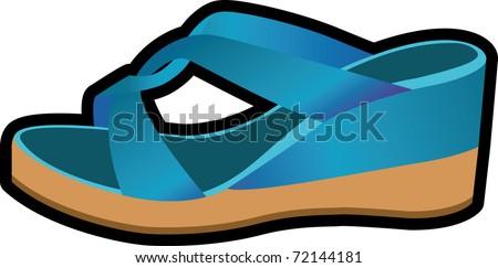 shoe blue mule woman