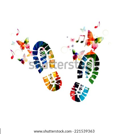 shoe footprint design with