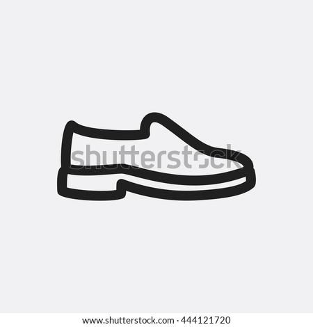shoe icon illustration isolated