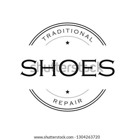 Shoe Maker vintage sign logo vector