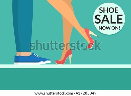 shoe sale now shopping banner