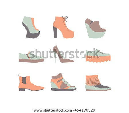 shoe set for summer  green