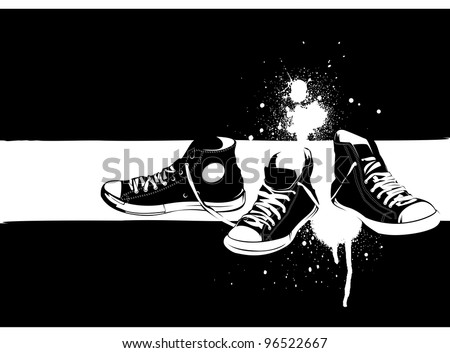 shoe stencil background