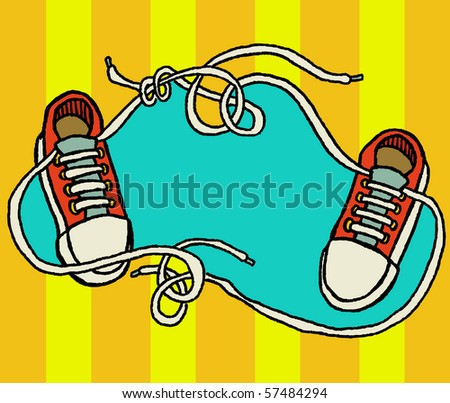 shoelaces tangled up