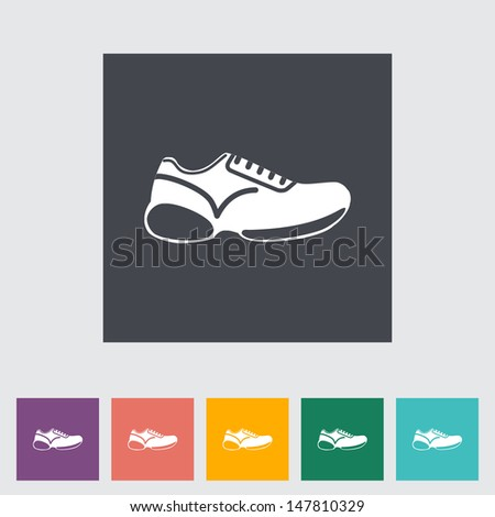 Shoes flat icon. Vector illustration.