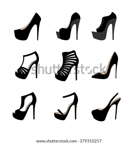 Shoes for woman sketch #379310257