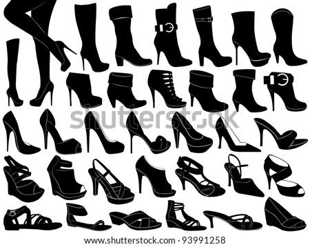 shoes illustration isolated on