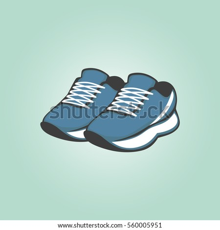 Shoes. Niagara color sneakers. Vector illustration