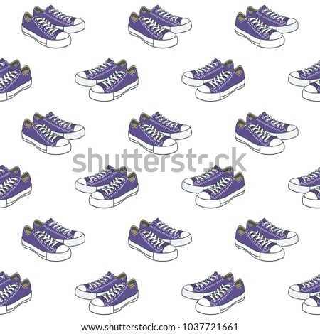 shoes pattern on white