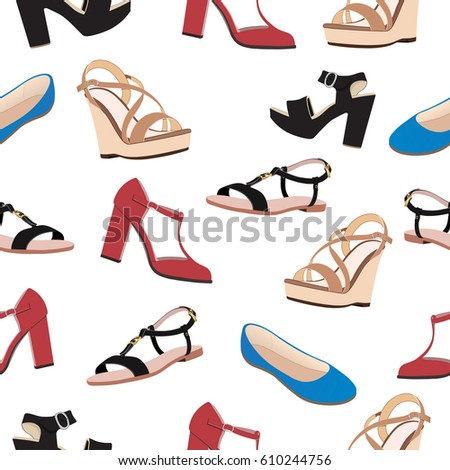 shoes vector background