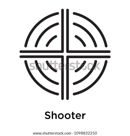 shooter icon isolated on white