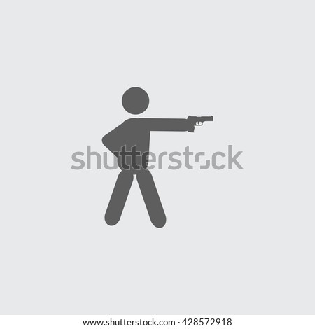 shooter icon shooter sign