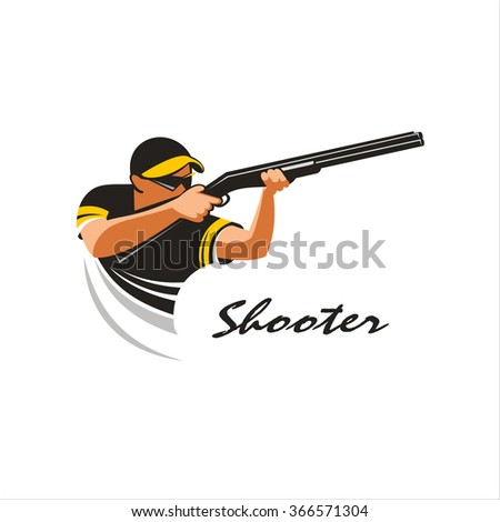 shooter shooting from a gun on