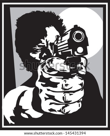 Shooter with a pistol