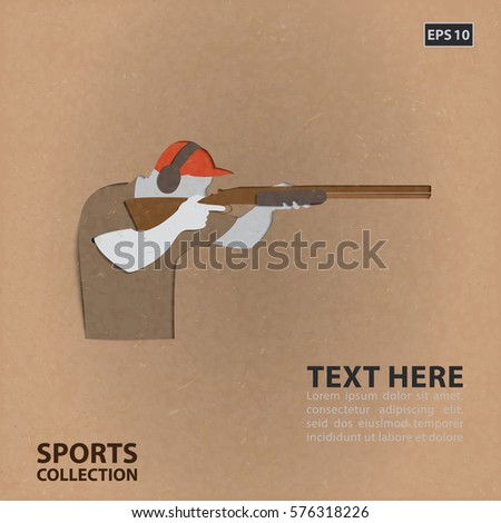 shooter with rifle  vector