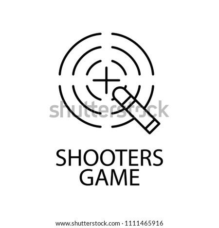 shooters game outline icon