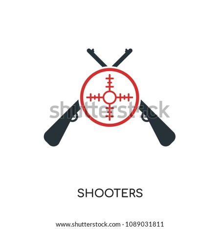 shooters logo isolated on white