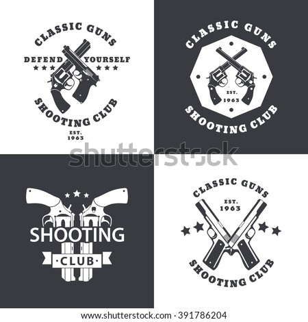 shooting club  vintage emblems