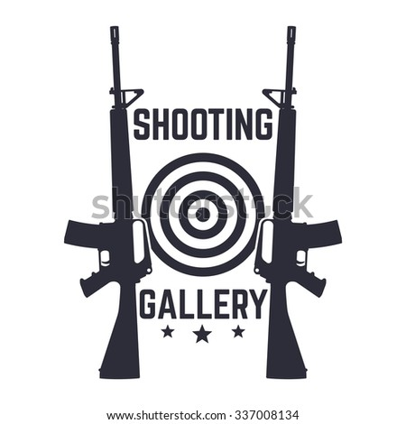 shooting gallery logo  sign