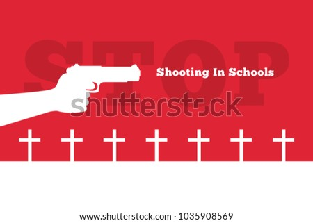 shooting in schools vector