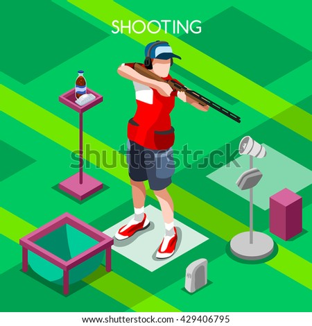 shooting male player sportsman