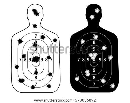 shooting range gun target with