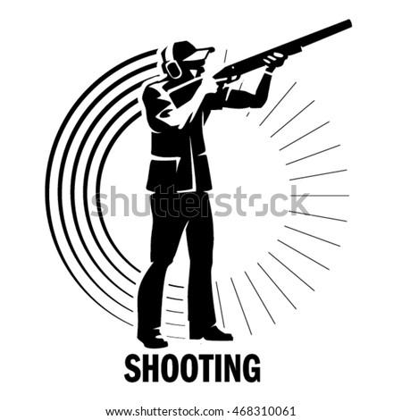 shooting sport illustration in