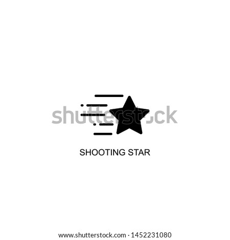 shooting star icon vector black