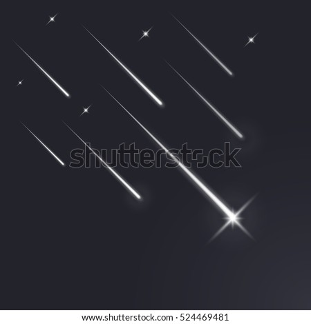 shooting stars  light of